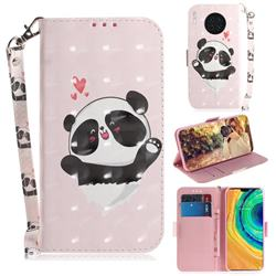 Heart Cat 3D Painted Leather Wallet Phone Case for Huawei Mate 30