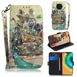 Beast Zoo 3D Painted Leather Wallet Phone Case for Huawei Mate 30