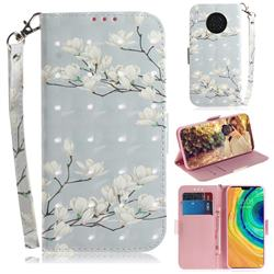 Magnolia Flower 3D Painted Leather Wallet Phone Case for Huawei Mate 30