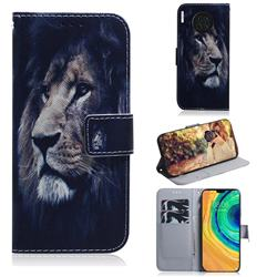 Lion Face PU Leather Wallet Case for Huawei Mate 30