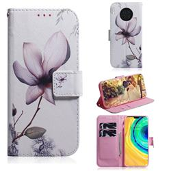 Magnolia Flower PU Leather Wallet Case for Huawei Mate 30