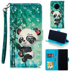 Cute Panda 3D Painted Leather Phone Wallet Case for Huawei Mate 30