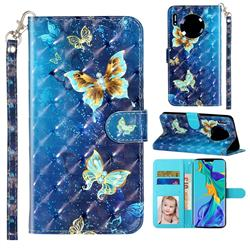 Rankine Butterfly 3D Leather Phone Holster Wallet Case for Huawei Mate 30