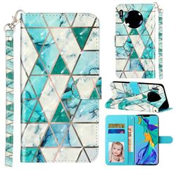 Stitching Marble 3D Leather Phone Holster Wallet Case for Huawei Mate 30