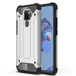 King Kong Armor Premium Shockproof Dual Layer Rugged Hard Cover for Huawei Mate 30 Lite(Nova 5i Pro) - White