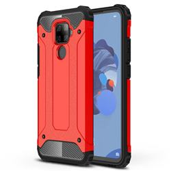 King Kong Armor Premium Shockproof Dual Layer Rugged Hard Cover for Huawei Mate 30 Lite(Nova 5i Pro) - Big Red