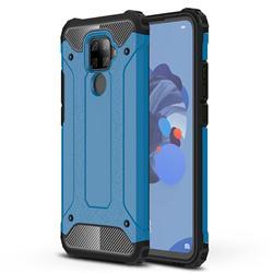 King Kong Armor Premium Shockproof Dual Layer Rugged Hard Cover for Huawei Mate 30 Lite(Nova 5i Pro) - Sky Blue