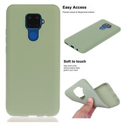 Soft Matte Silicone Phone Cover for Huawei Mate 30 Lite(Nova 5i Pro) - Bean Green