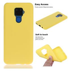 Soft Matte Silicone Phone Cover for Huawei Mate 30 Lite(Nova 5i Pro) - Yellow