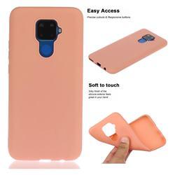 Soft Matte Silicone Phone Cover for Huawei Mate 30 Lite(Nova 5i Pro) - Coral Orange