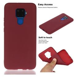 Soft Matte Silicone Phone Cover for Huawei Mate 30 Lite(Nova 5i Pro) - Wine Red
