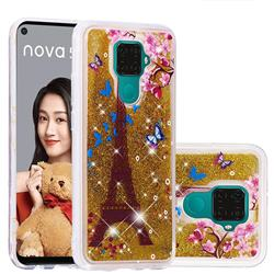 Golden Tower Dynamic Liquid Glitter Quicksand Soft TPU Case for Huawei Mate 30 Lite(Nova 5i Pro)
