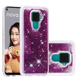 Dynamic Liquid Glitter Quicksand Sequins TPU Phone Case for Huawei Mate 30 Lite(Nova 5i Pro) - Purple