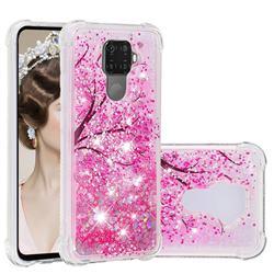 Pink Cherry Blossom Dynamic Liquid Glitter Sand Quicksand Star TPU Case for Huawei Mate 30 Lite(Nova 5i Pro)