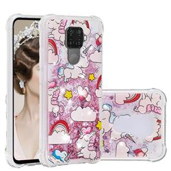 Angel Pony Dynamic Liquid Glitter Sand Quicksand Star TPU Case for Huawei Mate 30 Lite(Nova 5i Pro)