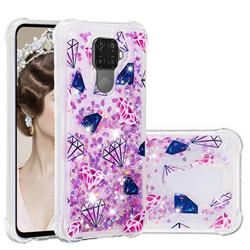 Diamond Dynamic Liquid Glitter Sand Quicksand Star TPU Case for Huawei Mate 30 Lite(Nova 5i Pro)