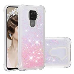 Dynamic Liquid Glitter Sand Quicksand TPU Case for Huawei Mate 30 Lite(Nova 5i Pro) - Silver Powder Star