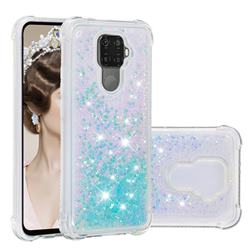 Dynamic Liquid Glitter Sand Quicksand TPU Case for Huawei Mate 30 Lite(Nova 5i Pro) - Silver Blue Star