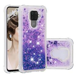 Dynamic Liquid Glitter Sand Quicksand Star TPU Case for Huawei Mate 30 Lite(Nova 5i Pro) - Purple