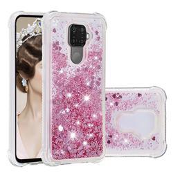 Dynamic Liquid Glitter Sand Quicksand Star TPU Case for Huawei Mate 30 Lite(Nova 5i Pro) - Diamond Rose