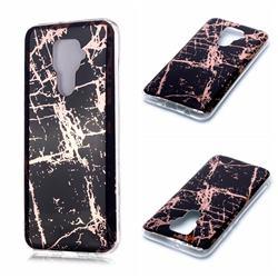 Black Galvanized Rose Gold Marble Phone Back Cover for Huawei Mate 30 Lite(Nova 5i Pro)