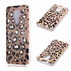 Leopard Galvanized Rose Gold Marble Phone Back Cover for Huawei Mate 30 Lite(Nova 5i Pro)
