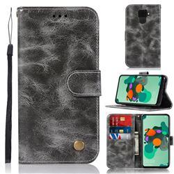 Luxury Retro Leather Wallet Case for Huawei Mate 30 Lite(Nova 5i Pro) - Gray