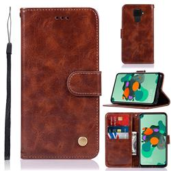 Luxury Retro Leather Wallet Case for Huawei Mate 30 Lite(Nova 5i Pro) - Brown