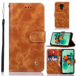 Luxury Retro Leather Wallet Case for Huawei Mate 30 Lite(Nova 5i Pro) - Golden