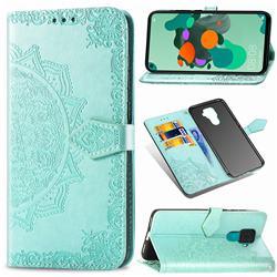 Embossing Imprint Mandala Flower Leather Wallet Case for Huawei Mate 30 Lite(Nova 5i Pro) - Green