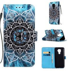 Underwater Mandala Matte Leather Wallet Phone Case for Huawei Mate 30 Lite(Nova 5i Pro)