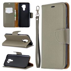 Classic Luxury Litchi Leather Phone Wallet Case for Huawei Mate 30 Lite(Nova 5i Pro) - Gray