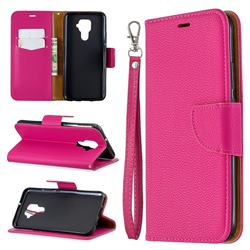 Classic Luxury Litchi Leather Phone Wallet Case for Huawei Mate 30 Lite(Nova 5i Pro) - Rose