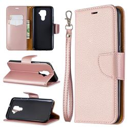 Classic Luxury Litchi Leather Phone Wallet Case for Huawei Mate 30 Lite(Nova 5i Pro) - Golden