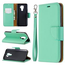 Classic Luxury Litchi Leather Phone Wallet Case for Huawei Mate 30 Lite(Nova 5i Pro) - Green