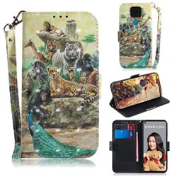 Beast Zoo 3D Painted Leather Wallet Phone Case for Huawei Mate 30 Lite(Nova 5i Pro)