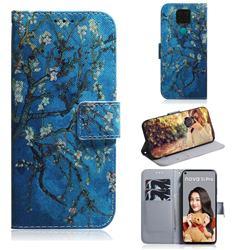 Apricot Tree PU Leather Wallet Case for Huawei Mate 30 Lite(Nova 5i Pro)