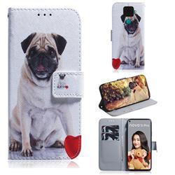 Pug Dog PU Leather Wallet Case for Huawei Mate 30 Lite(Nova 5i Pro)