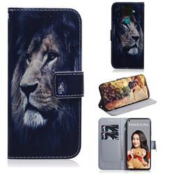 Lion Face PU Leather Wallet Case for Huawei Mate 30 Lite(Nova 5i Pro)