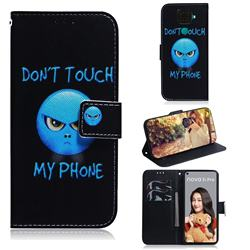 Not Touch My Phone PU Leather Wallet Case for Huawei Mate 30 Lite(Nova 5i Pro)