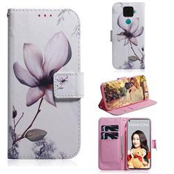 Magnolia Flower PU Leather Wallet Case for Huawei Mate 30 Lite(Nova 5i Pro)