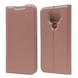 Ultra Slim Card Magnetic Automatic Suction Leather Wallet Case for Huawei Mate 30 Lite(Nova 5i Pro) - Rose Gold