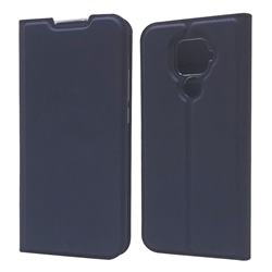 Ultra Slim Card Magnetic Automatic Suction Leather Wallet Case for Huawei Mate 30 Lite(Nova 5i Pro) - Royal Blue