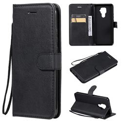 Retro Greek Classic Smooth PU Leather Wallet Phone Case for Huawei Mate 30 Lite(Nova 5i Pro) - Black