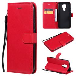 Retro Greek Classic Smooth PU Leather Wallet Phone Case for Huawei Mate 30 Lite(Nova 5i Pro) - Red