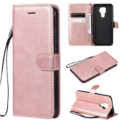 Retro Greek Classic Smooth PU Leather Wallet Phone Case for Huawei Mate 30 Lite(Nova 5i Pro) - Rose Gold