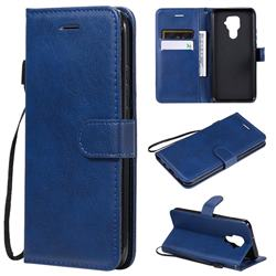 Retro Greek Classic Smooth PU Leather Wallet Phone Case for Huawei Mate 30 Lite(Nova 5i Pro) - Blue