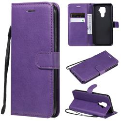 Retro Greek Classic Smooth PU Leather Wallet Phone Case for Huawei Mate 30 Lite(Nova 5i Pro) - Purple