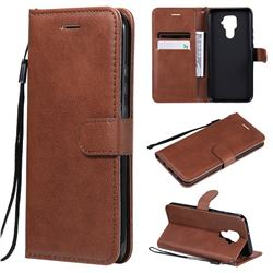 Retro Greek Classic Smooth PU Leather Wallet Phone Case for Huawei Mate 30 Lite(Nova 5i Pro) - Brown
