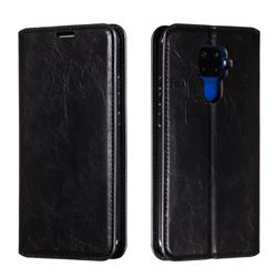Retro Slim Magnetic Crazy Horse PU Leather Wallet Case for Huawei Mate 30 Lite(Nova 5i Pro) - Black